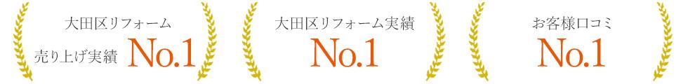 大田区リフォーム売り上げ実績No.1 大田区リフォーム実績No.1 お客様口コミNo.1